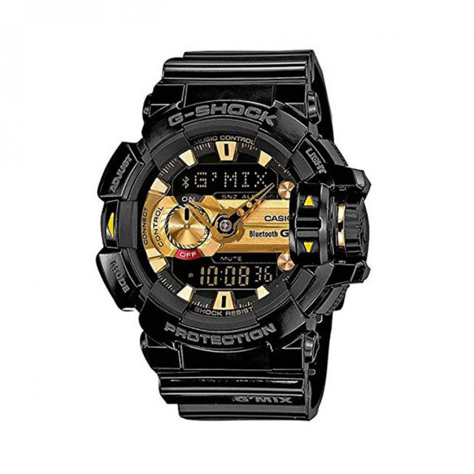 Мъжки спортен часовник Casio G-SHOCK черен със златист дисплей GBA4001A9ER