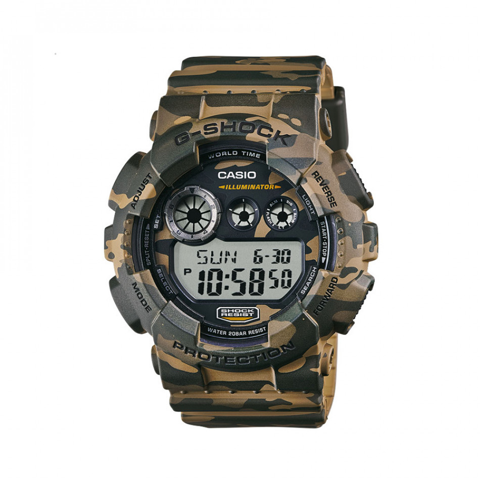 Мъжки спортен часовник Casio G-SHOCK кафяво-зелен камуфлаж GD120CM5ER