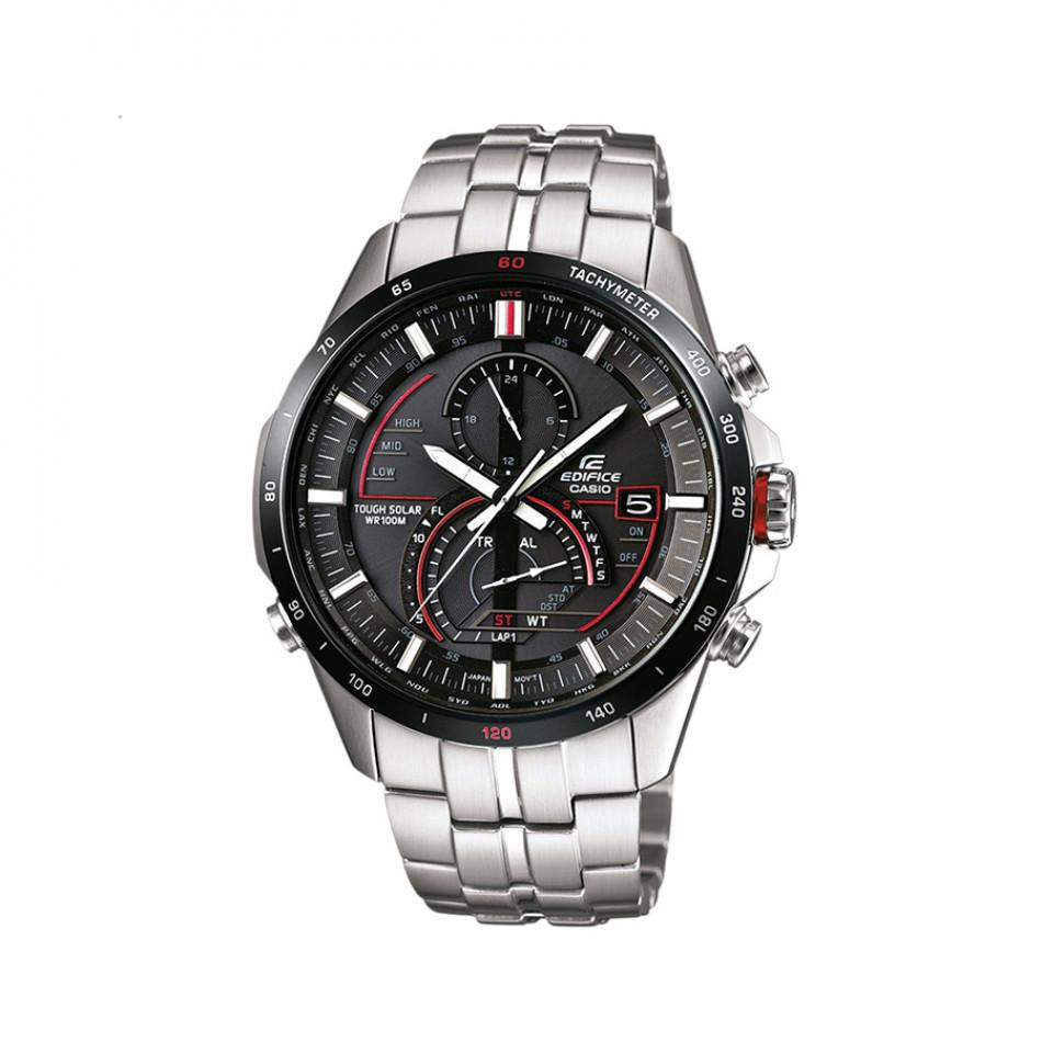 Мъжки часовник Casio Edifice сребрист браслет със Smart технология за управление EQSA500DB1AVER