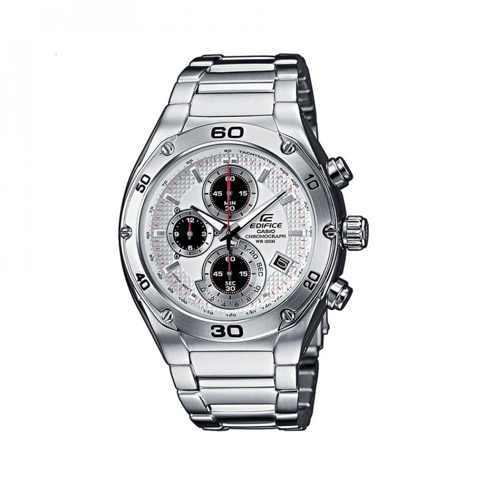 Мъжки часовник Casio Edifice сребрист браслет със завиваща се коронка EF517D7AVEF