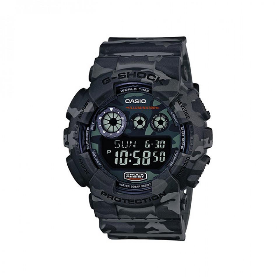 Мъжки спортен часовник Casio G-SHOCK сив камуфлаж GD120CM8ER