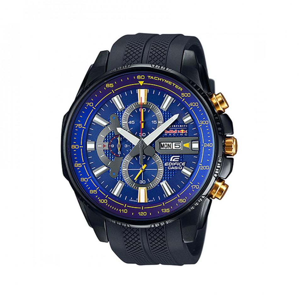 Мъжки часовник Casio Edifice черен със златисти бутони EFR549RBP2AER