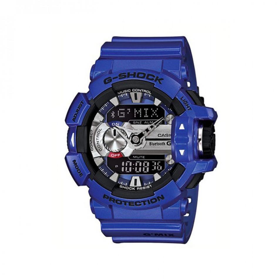 Мъжки спортен часовник Casio G-SHOCK лилав с черни детайли GBA4002AER