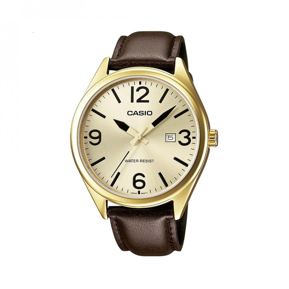 Мъжки часовник Casio Collection с жълта позлата на касата MTP1342L9BEF