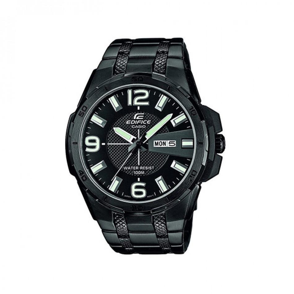 Мъжки часовник Casio Edifice черен браслет с дата и ден на циферблата EFR104BK1AVUEF