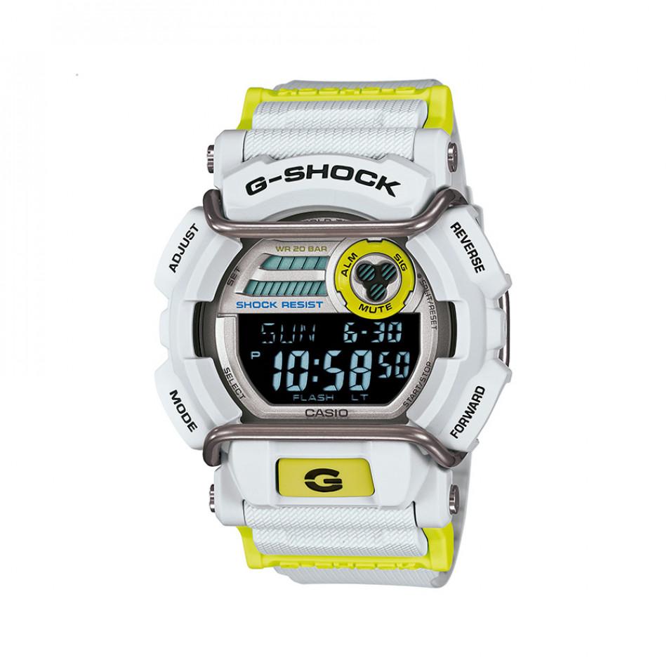 Мъжки спортен часовник Casio G-SHOCK бяло-жълт GD400DN8ER
