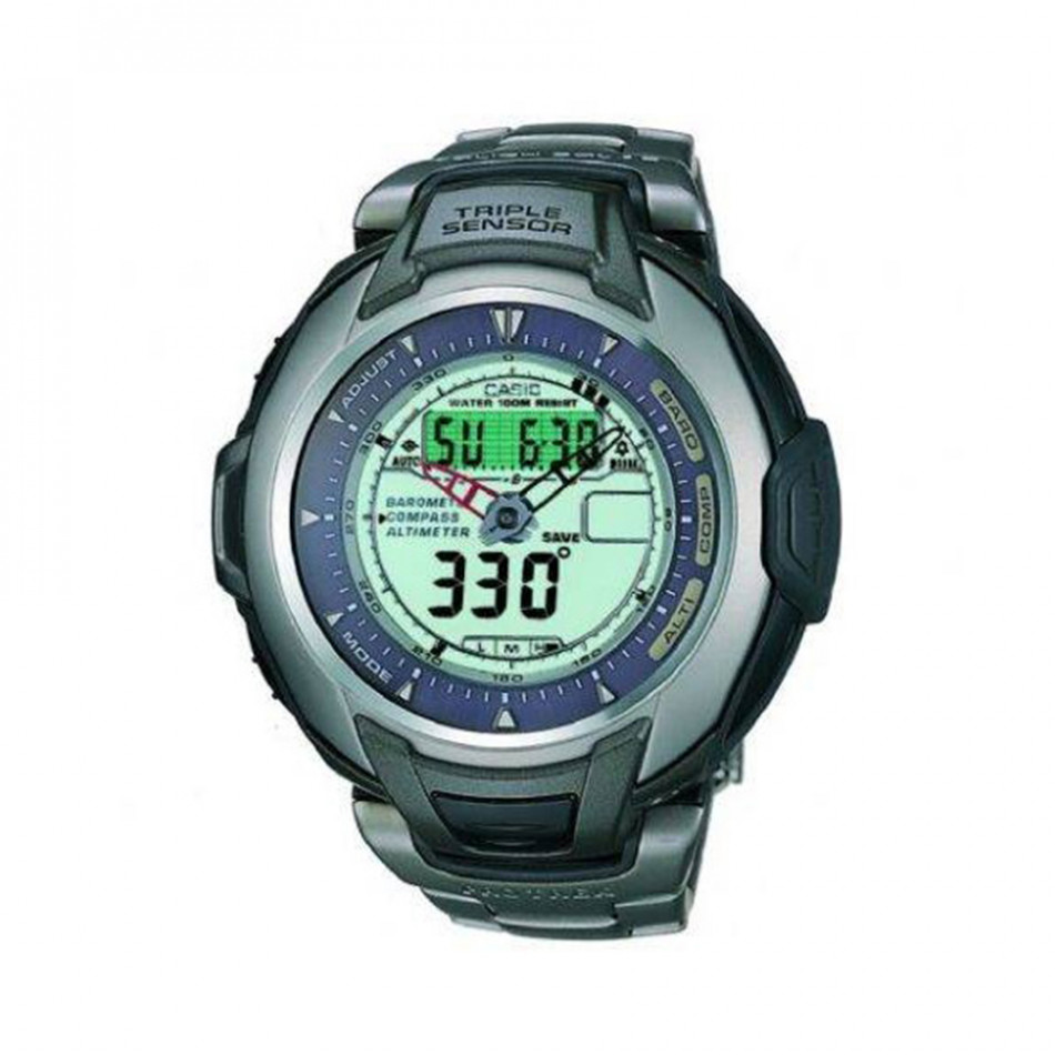Мъжки часовник Casio Pro Trek с титаниев корпус и верижка PRG60T7AVER
