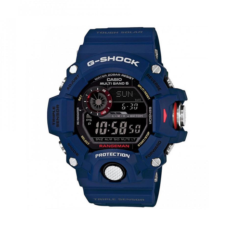 Мъжки спортен часовник Casio G-SHOCK син със соларно зареждане GW9400NV2ER
