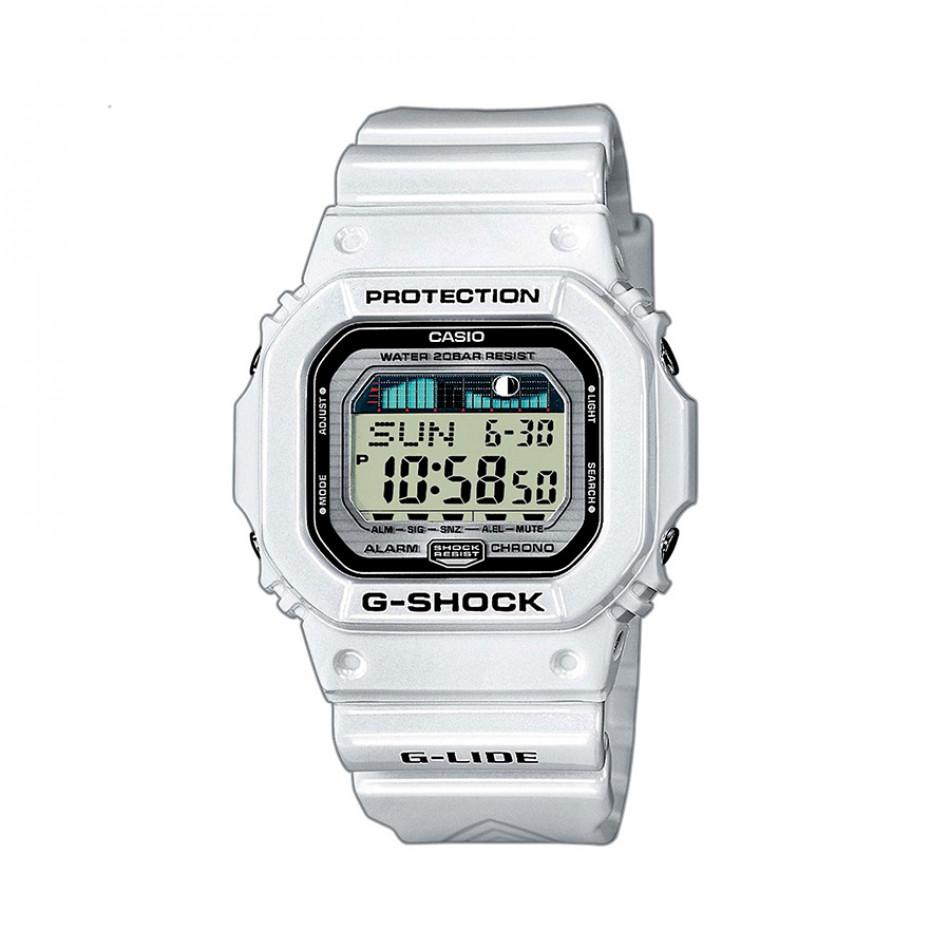 Мъжки часовник Casio G-SHOCK бял с правоъгълен циферблат GLX56007ER