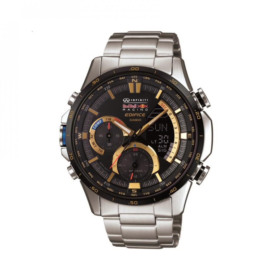 Мъжки часовник Casio Edifice сребрист браслет със златисти детайли на циферблата ERA300RB1AER