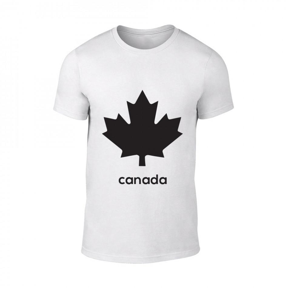 Мъжка бяла тениска Canada TMN-M-063