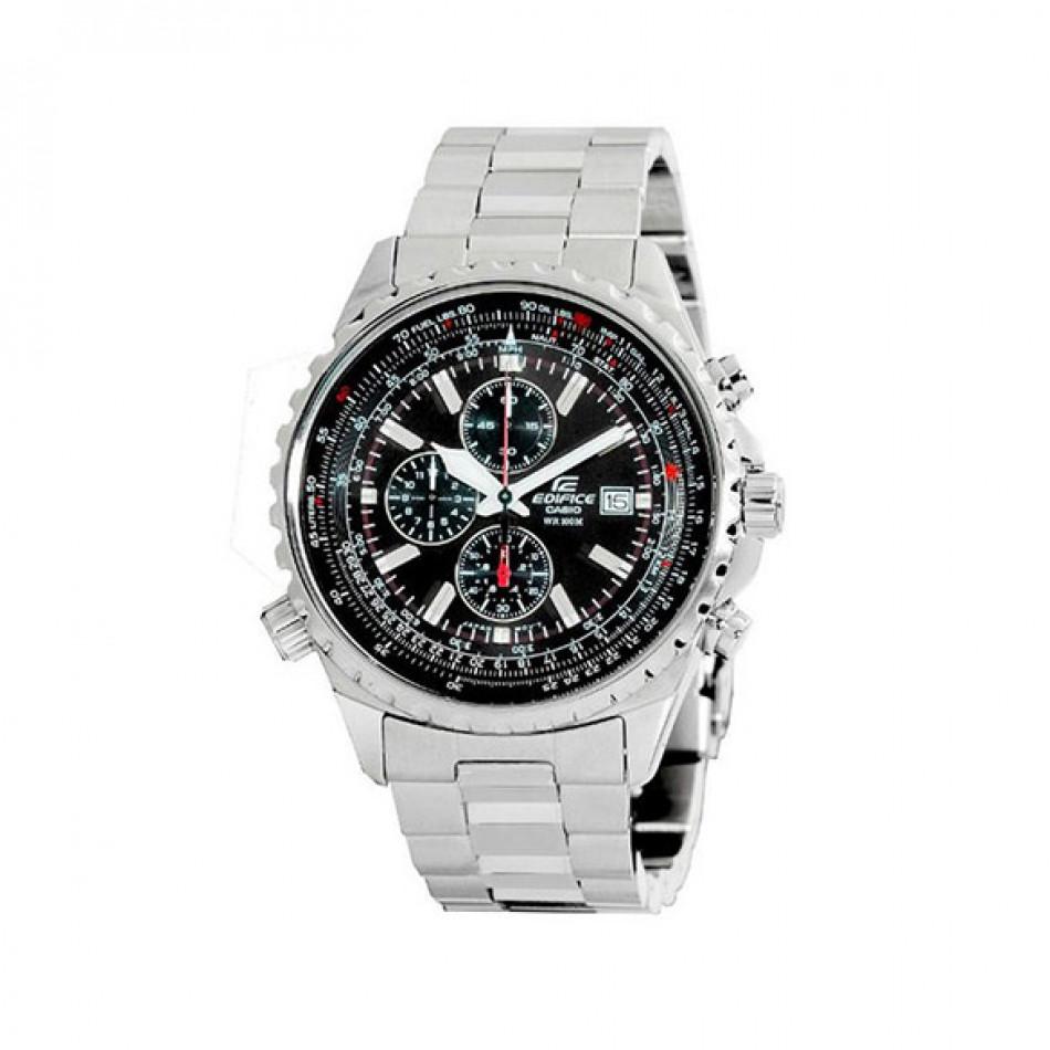 Мъжки часовник Casio Edifice сребрист браслет с 12/24 часов формат EFR507D1AVEF