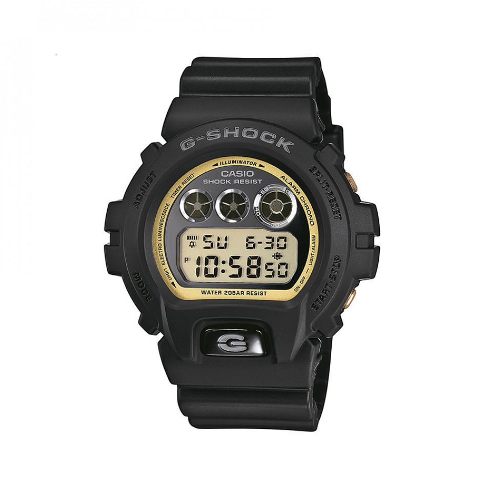 Мъжки спортен часовник Casio G-SHOCK черен със златист кант DW6900MR1ER