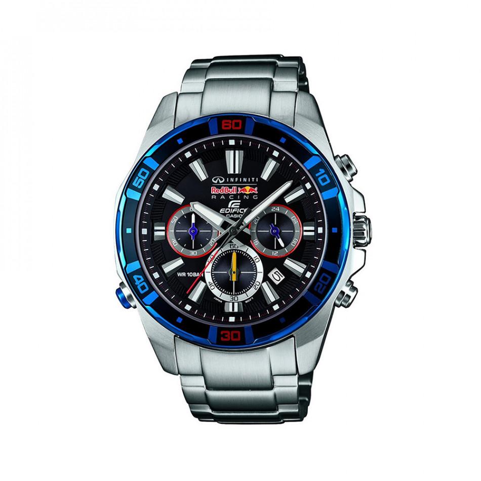 Мъжки часовник Casio Edifice сребрист браслет с хронометър EFR534RB1AER