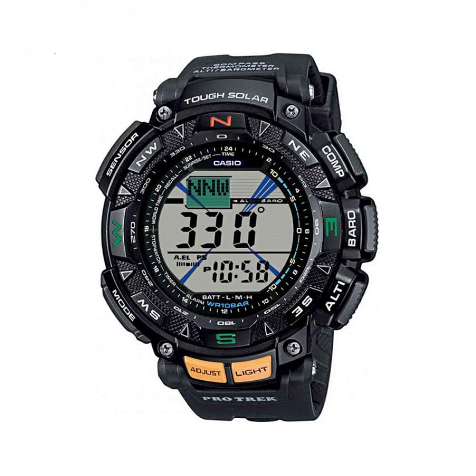 Мъжки часовник Casio Pro Trek черен с дигитален компас PRG2401ER