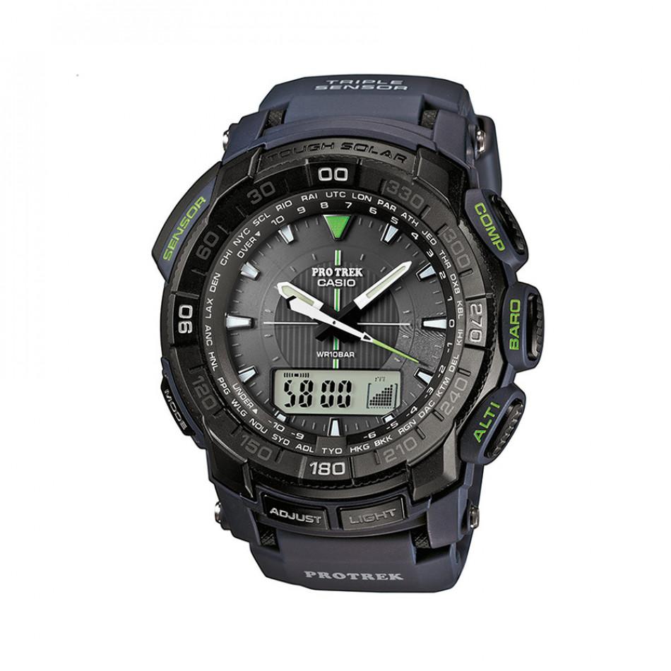 Мъжки часовник Casio Pro Trek черен с компас PRG5502ER