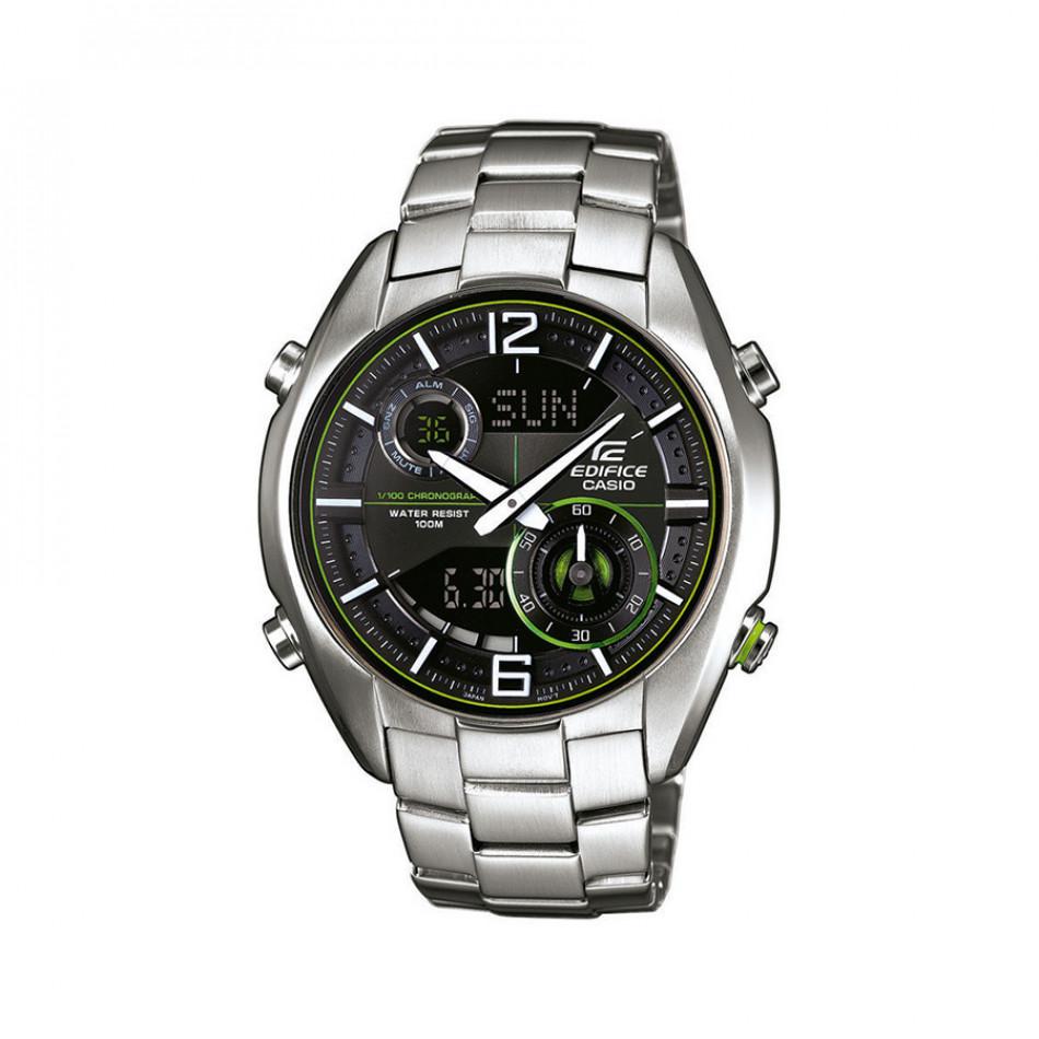 Мъжки часовник Casio Edifice сребрист браслет с неоново зелени детайли ERA100D1A9VUEF