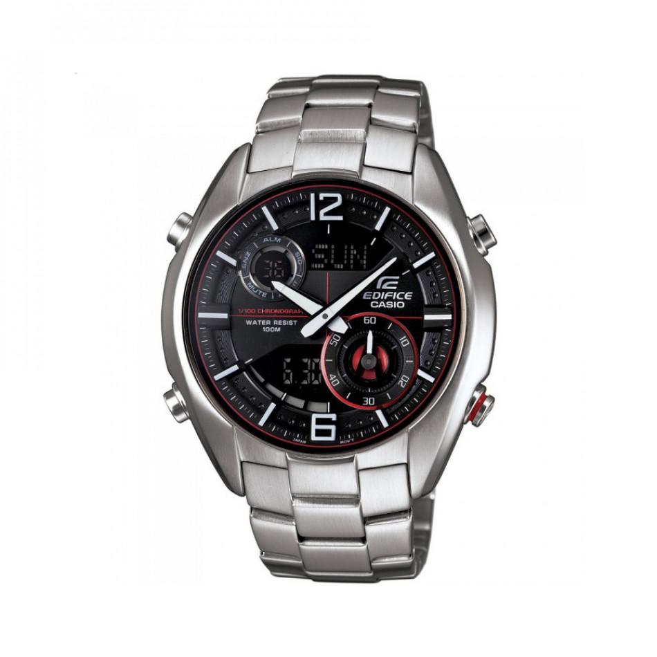 Мъжки часовник Casio Edifice сребрист браслет с хронометър ERA100D1A4VUEF