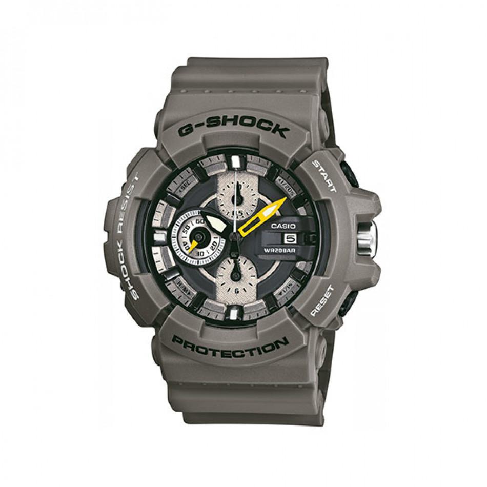 Мъжки спортен часовник Casio G-SHOCK сив с жълта стрелка за минутите GAC1008AER