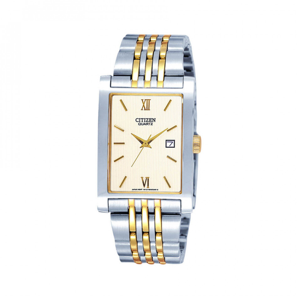 Quartz Gold Dial Two-Tone Quatz Men's Watch BH1378-50A  BH1378 50A