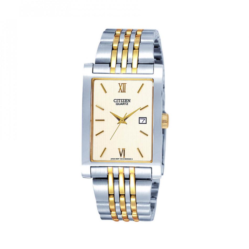 Quartz Gold Dial Two-Tone Quatz Men's Watch BH1378-50A  BH1378 50A