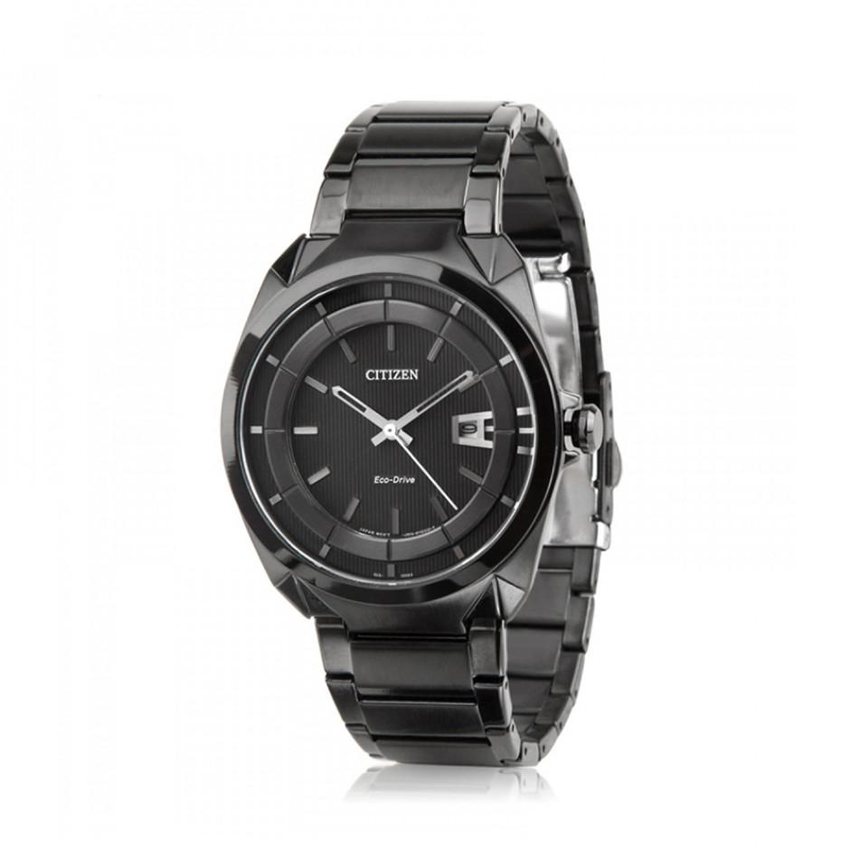 Мъжки часовник Citizen изцяло черен браслет AW1015 53E