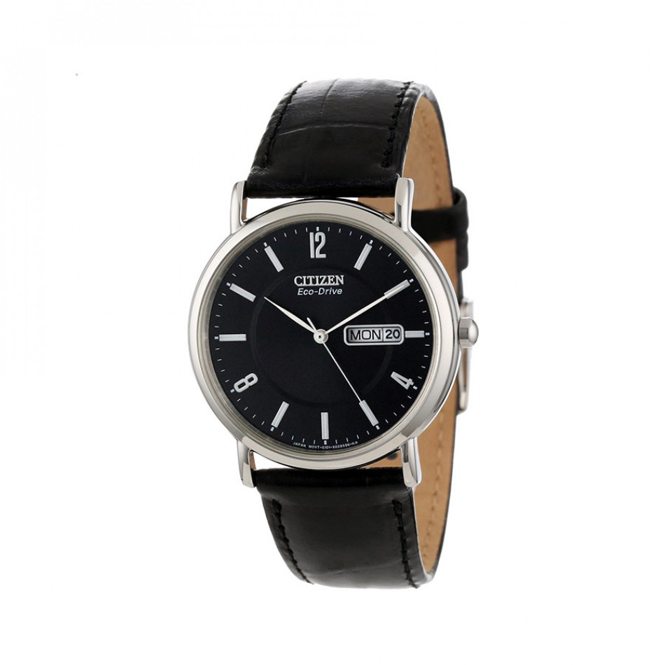 ECO-DRIVE GTS Black Dial Black Leather Men's Watch BM8241-01E BM8241 01E/Cal. E101
