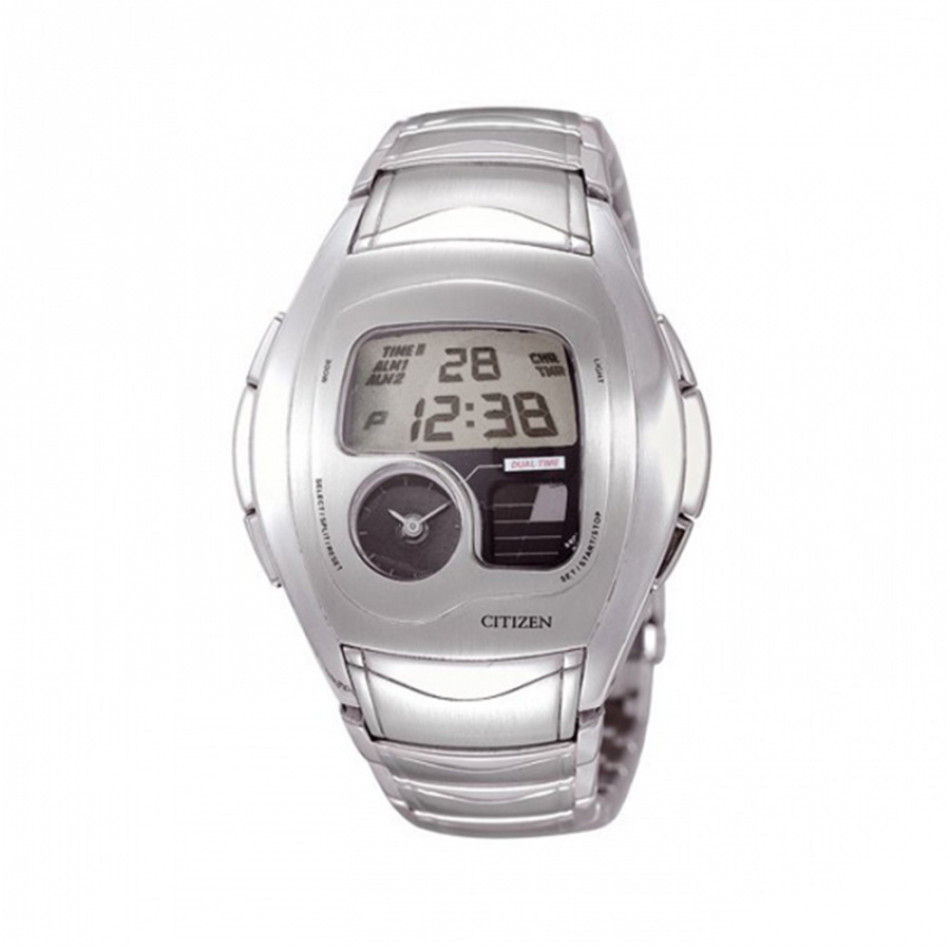 Dual Time Chronograph Steel Men's Watch JG1071-56E JG1071 56E