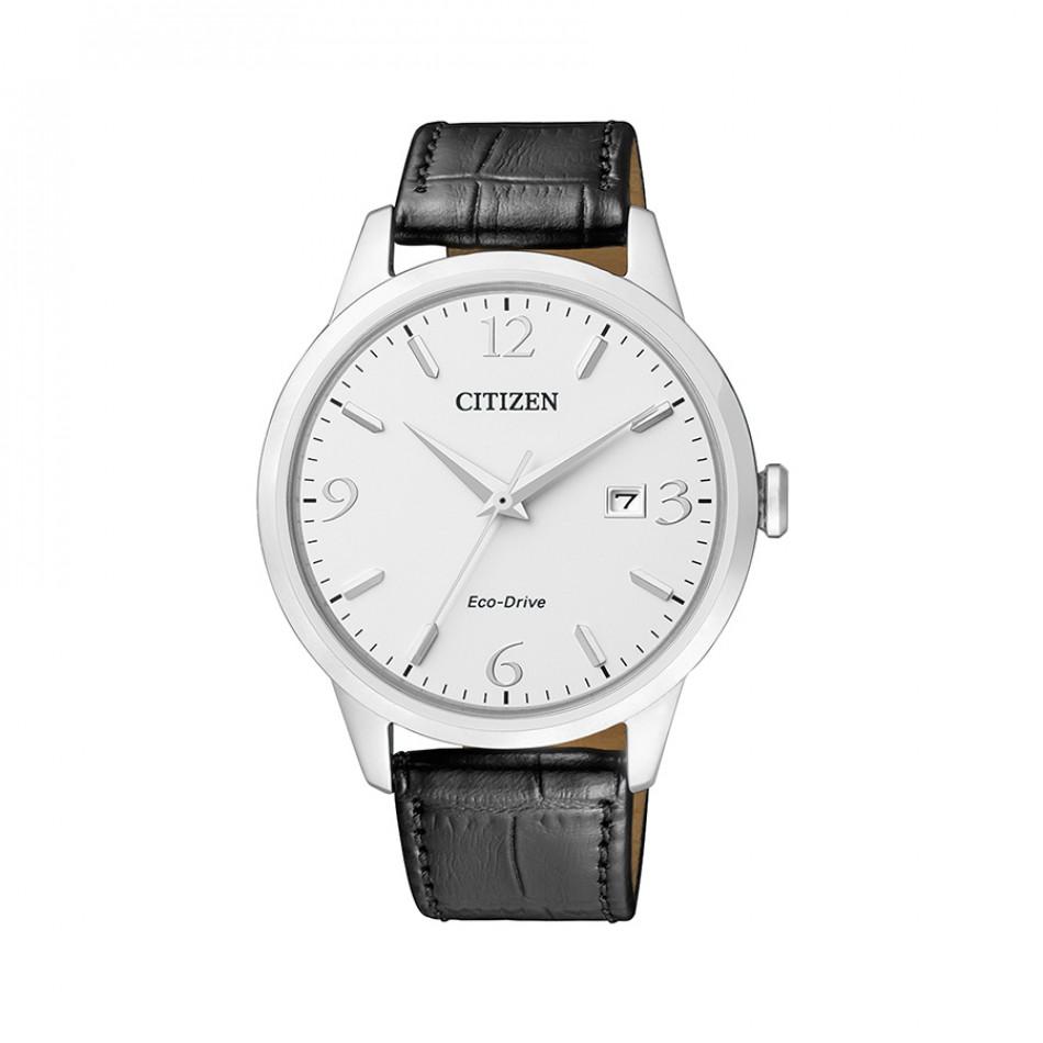 Мъжки часовник Citizen с черна каишка от естествена кожа BM7300-09A