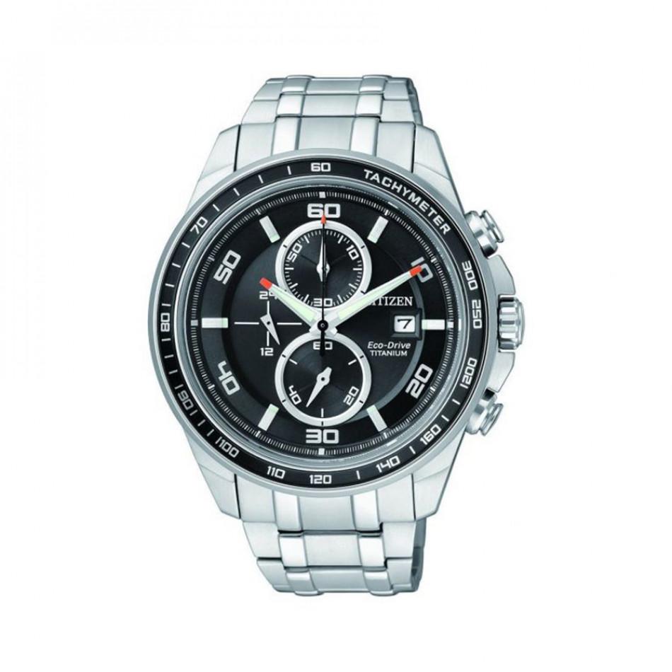 Eco-Drive Super Titanium Chronograph Men's Watch CA0340-55E CA0340 55E/Cal. B612