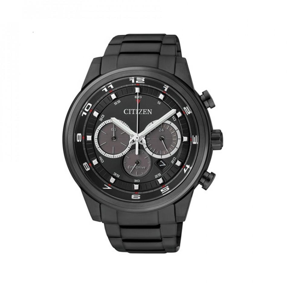 Мъжки часовник Citizen черен с бели цифри и индекси CA4035 57E