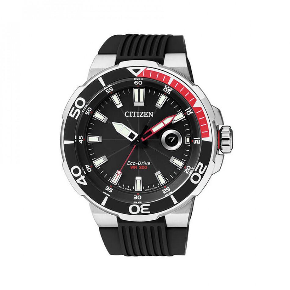 Мъжки часовник Citizen черен със соларно захранване AW1420-04E