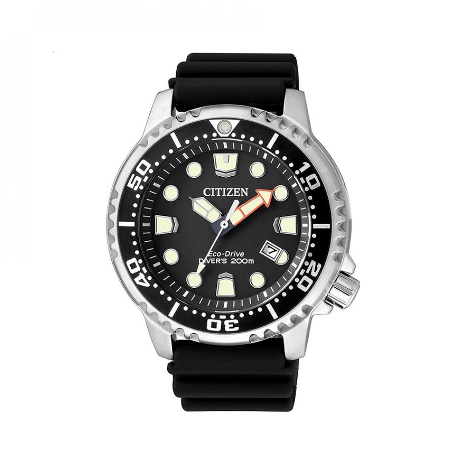 Мъжки часовник Citizen с черна каучукова каишка BN0150 10E