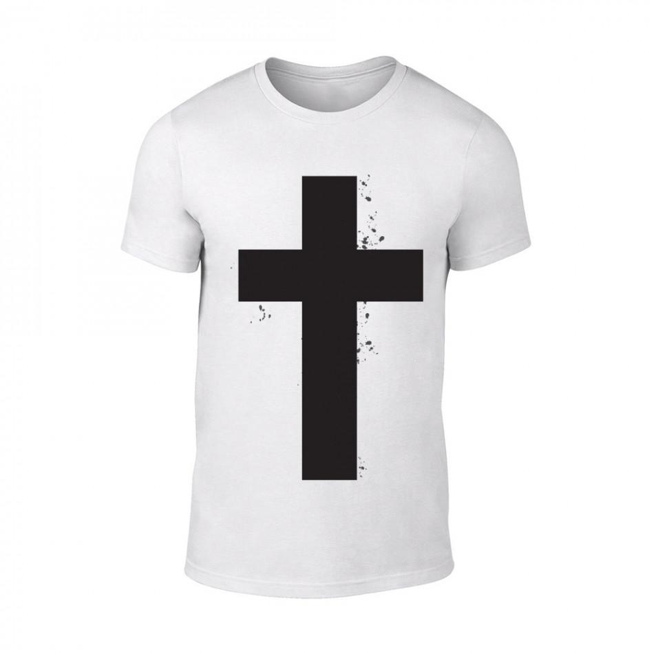 Мъжка бяла тениска Cross TMN-M-097