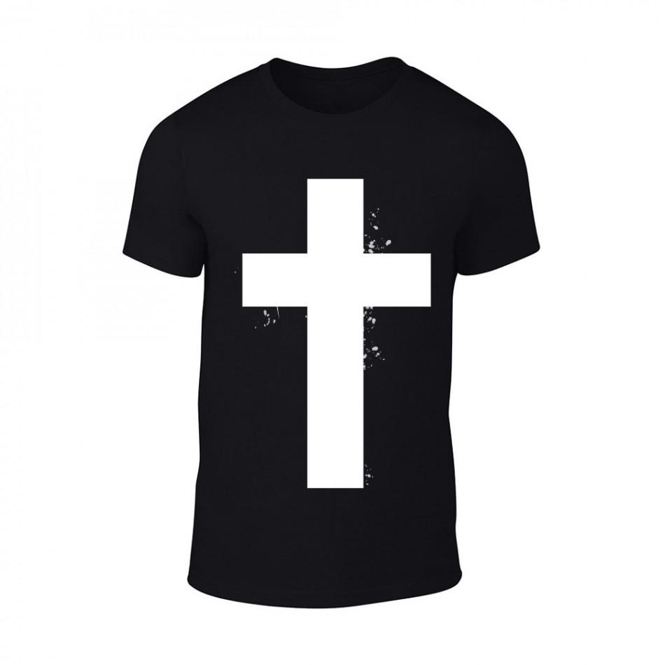 Мъжка черна тениска Cross TMN-M-098