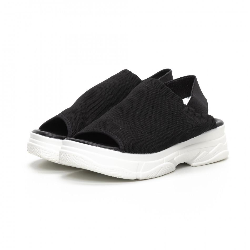 Дамски черни сандали тип чорап. Размер 39/38 39 it240419-52-1