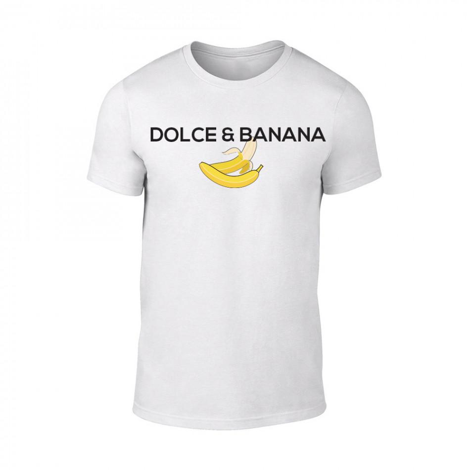 Мъжка бяла тениска Dolce & Banana TMN-M-075