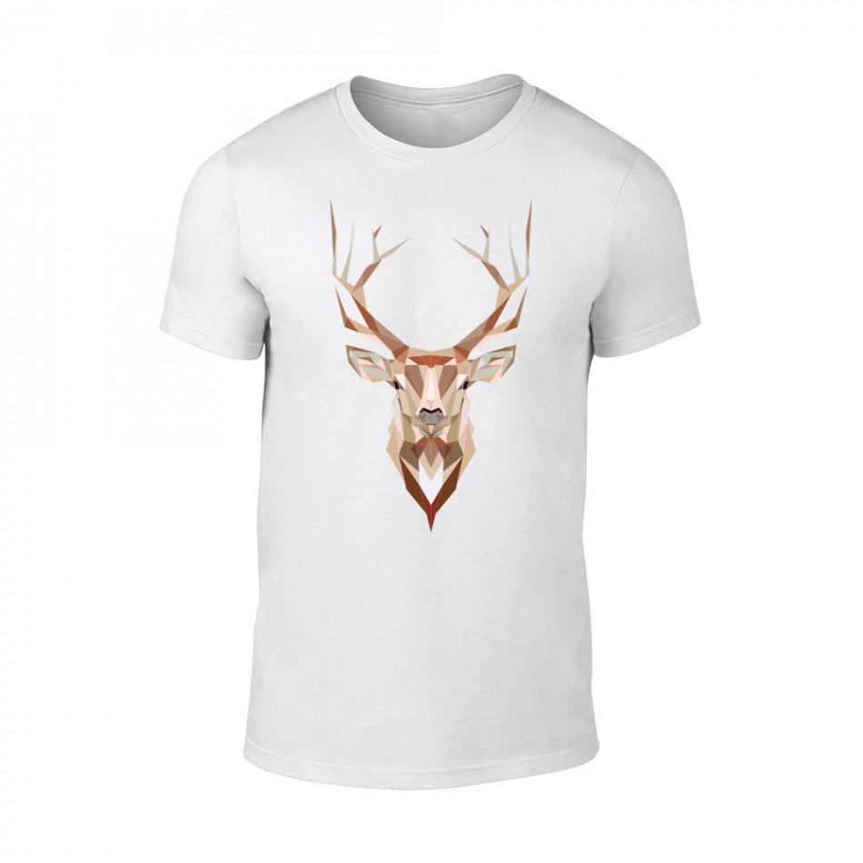 Мъжка бяла тениска Deer TMN-M-187