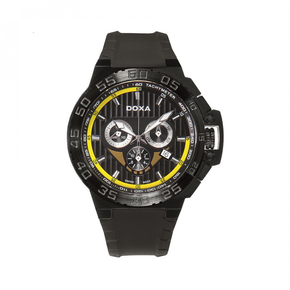 Мъжки часовник DOXA Splash черен с контрастни детайли на циферблата 7007008120
