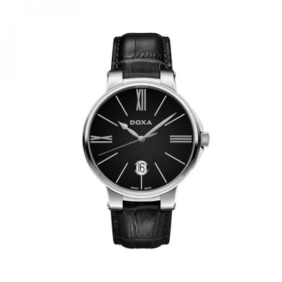 Мъжки часовник DOXA Il Duca черен с прозрачен заден капак 1311010201