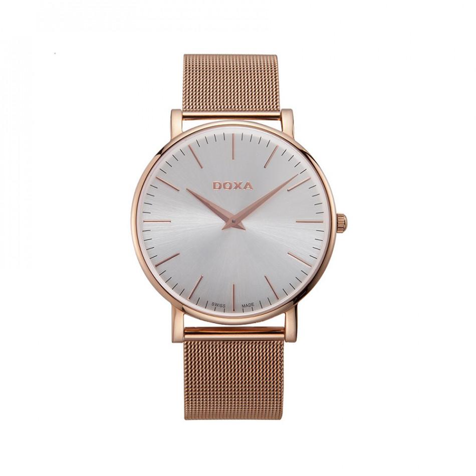 Мъжки часовник DOXA D-Light със стоманена каишка с розова позлата 1739002117