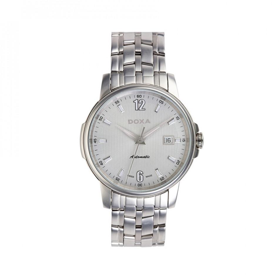 Мъжки часовник DOXA Ethno сребрист браслет с бял циферблат 2051002310