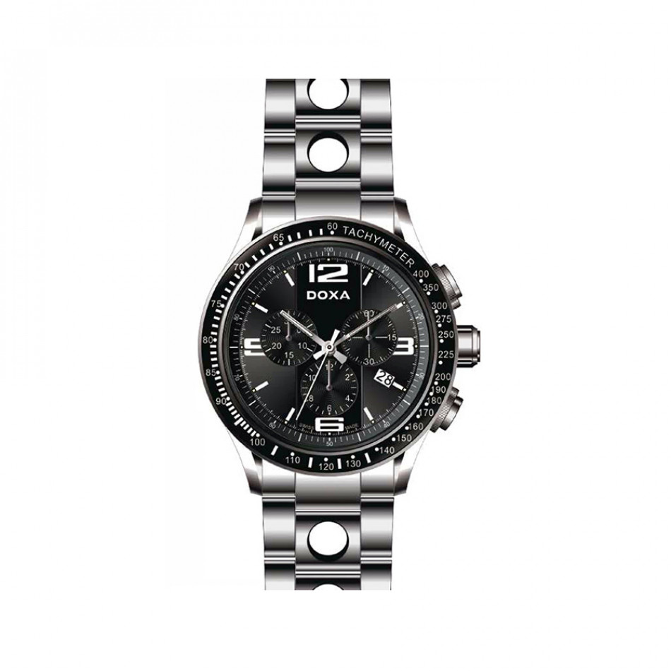 Мъжки часовник DOXA Trofeo сребрист браслет 2851010310