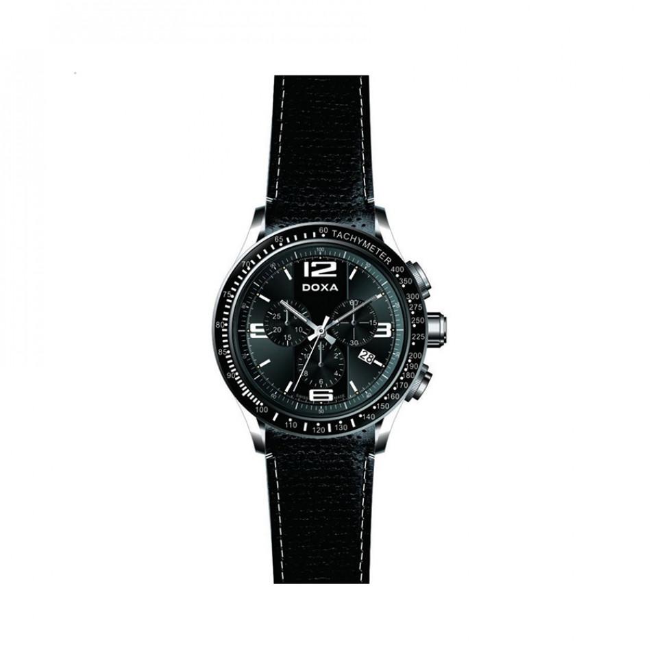 Мъжки часовник DOXA Trofeo изцяло черен 2851010301W