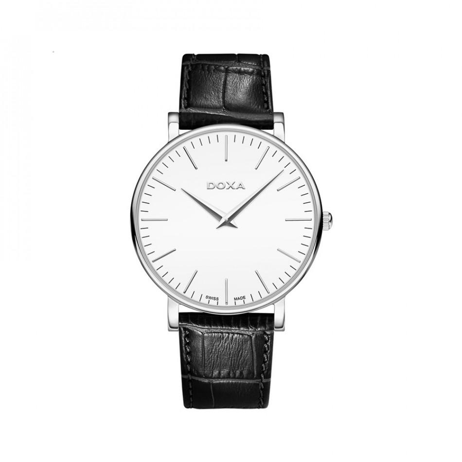 Мъжки часовник DOXA D-Light с бял циферблат 1731001101