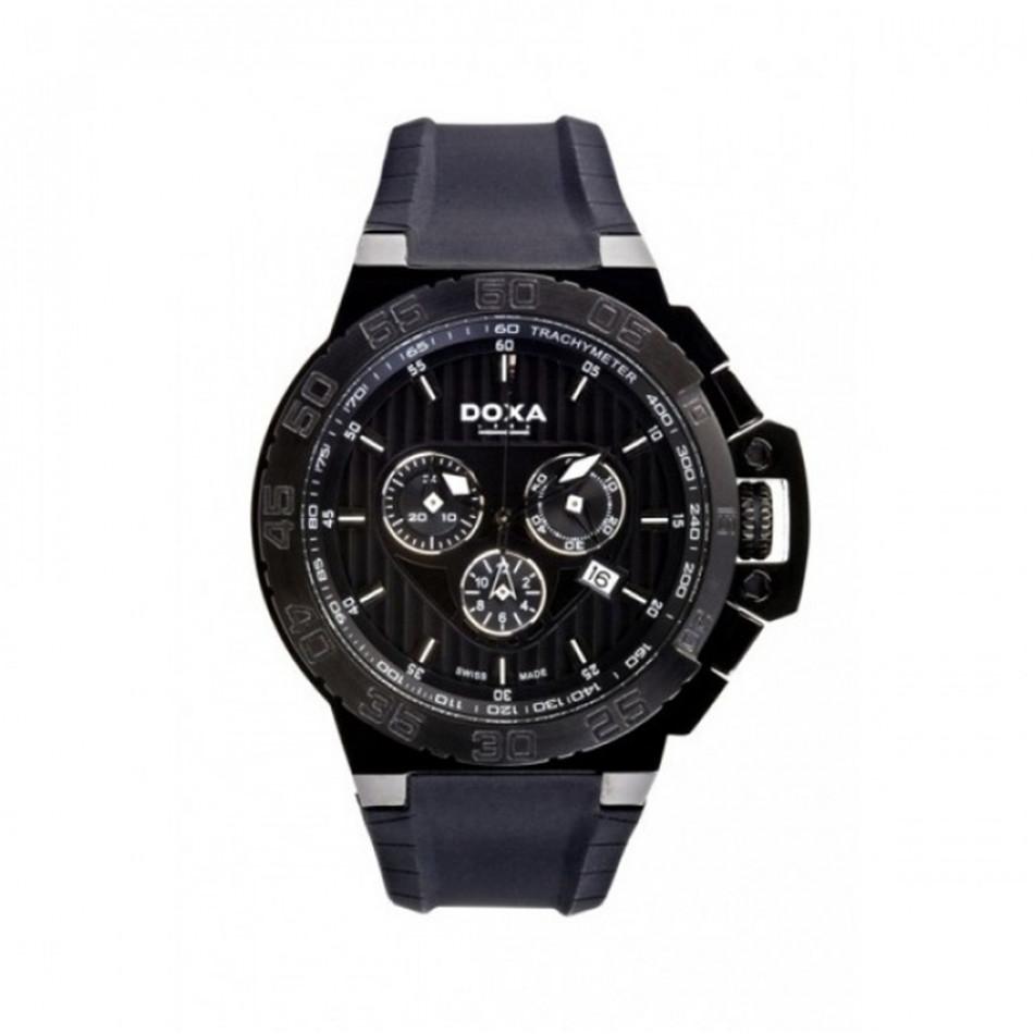 Мъжки часовник DOXA Splash с черна каучукова каишка 7007010120