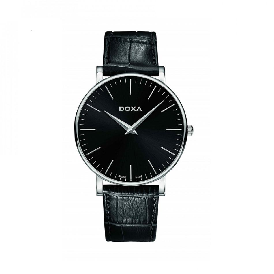 Мъжки часовник DOXA D-Light с черен циферблат 1731010101