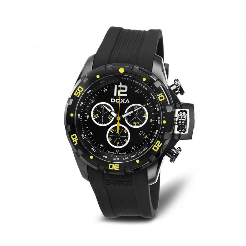 Мъжки часовник DOXA Water N'Sports черен с неонови детайли 7037008320