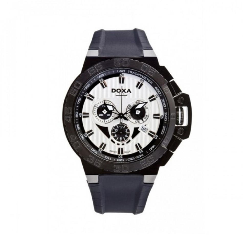 Мъжки часовник DOXA Splash черен с бял циферблат 7007013120