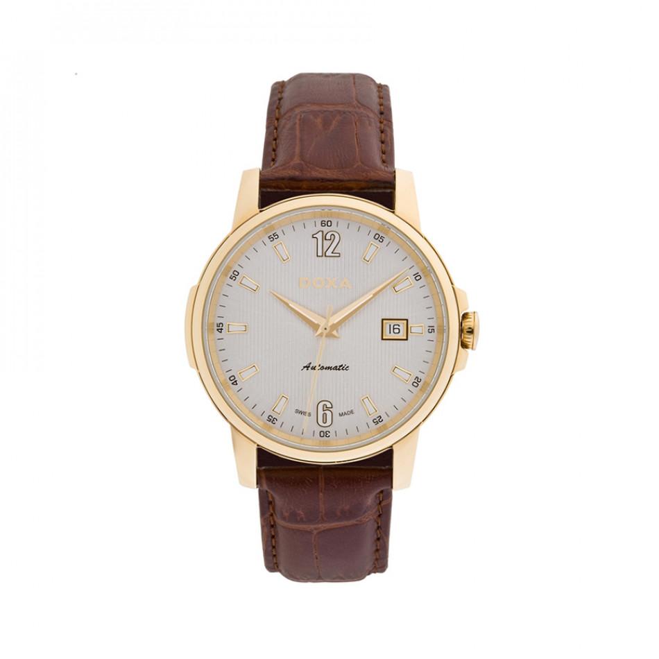 Мъжки часовник DOXA Ethno с кафява каишка от естествена кожа 2053002302